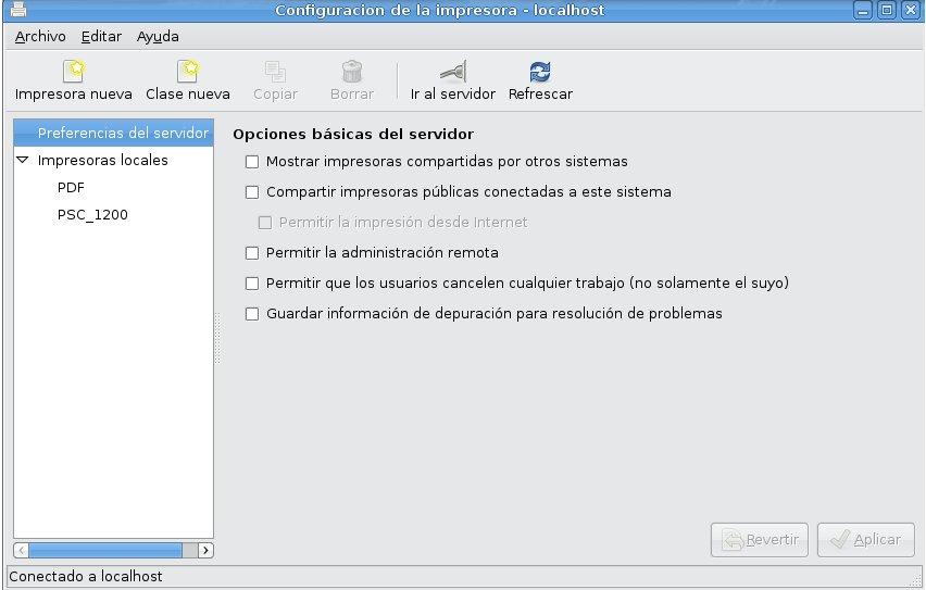 ubuntu impresoras