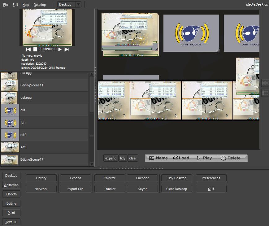 Jahshaka es una aplicación informática libre y multiplataforma para edición de vídeo