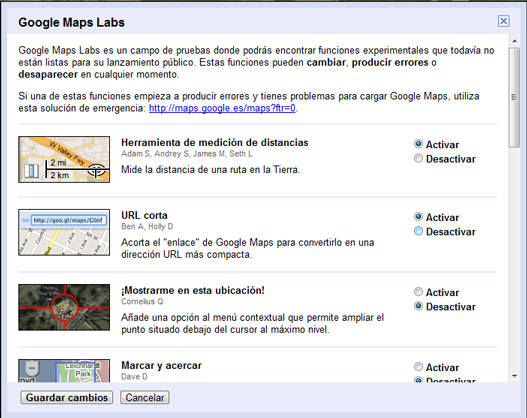 Acortador urls google maps