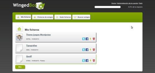 Almacena y comparte ficheros en Internet