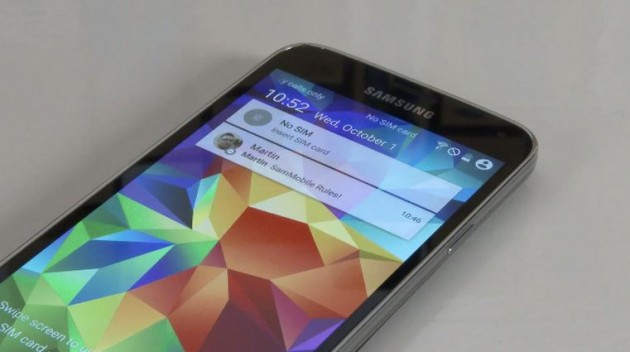 Android 5.0 en Galaxy S5