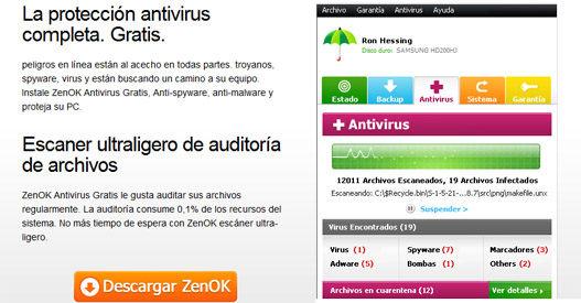 Antivirus gratuito ZenOK