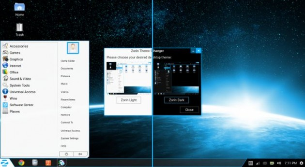 Aspecto de Zorin OS 8.0
