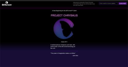 BitTorrent proyecto Chrysalis