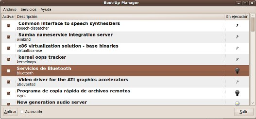 Gestion de servicios en Linux con Boot-Up Manager