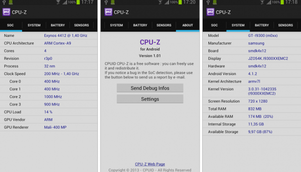 CPU-Z en Android