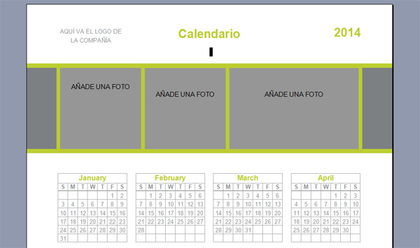 Plantillas Para Maquetar Tu Libro En Word Listas Para: Descargar Calendarios Personalizados Del 2014 Para Imprimir