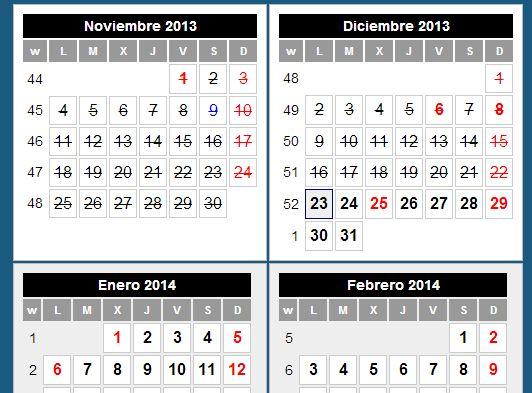 Calendario para Excel