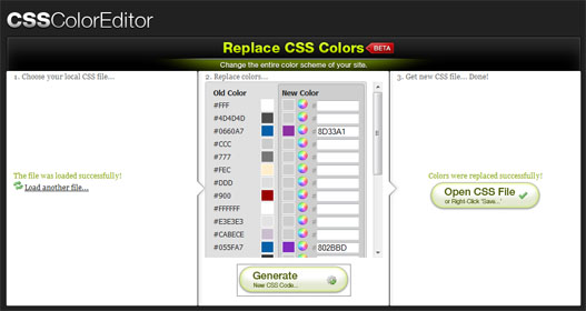 Cambiar colores CSS