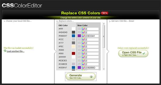 Cambiar colores de un archivo CSS en segundos