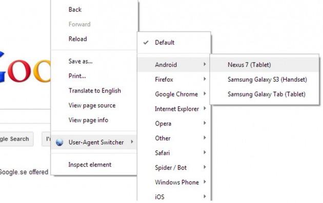 Cambiar el User-Agent en Chrome