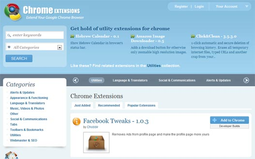 Chrome Extensions – Web de extensiones para Google Chrome
