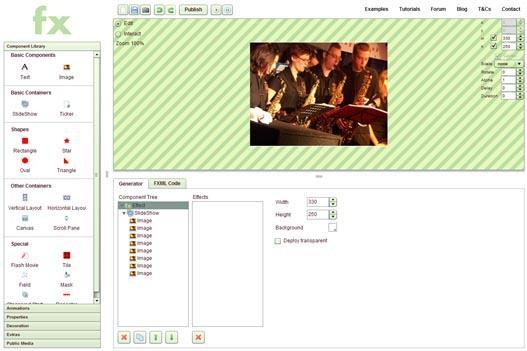 Crear efectos y animaciones en Flash online