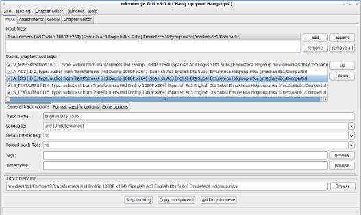 Crear ficheros MKV