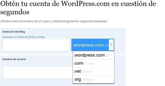 Crear un blog con WordPress con dominio