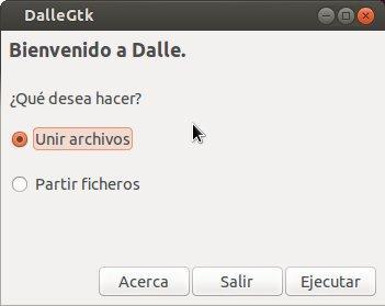 Dividir y unir ficheros con Hacha o Dalle