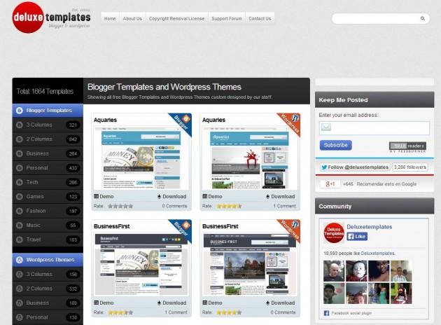 Deluxe templates