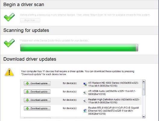 Actualiza tus drivers automáticamente.