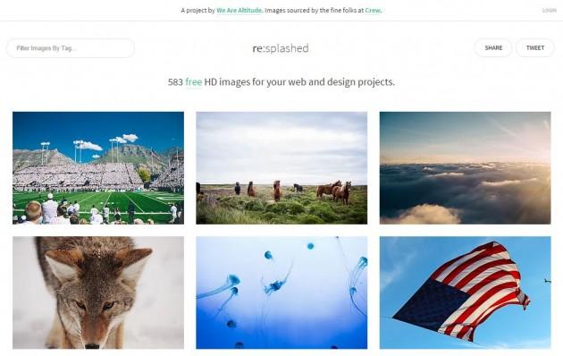 Descargar imágenes libres para proyectos, ReSplashed