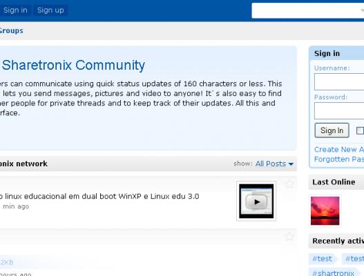 Sharetronix, CMS para crear un microblog