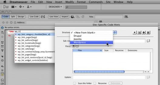 Dreamweaver CS5 soportará WordPress, Drupal y Joomla