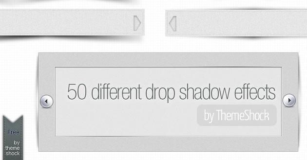 Efectos de sombras para PSD