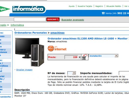 El Corte Ingles vende ordenadores con Ubuntu