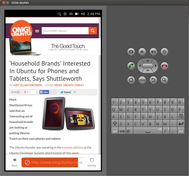 Emulador de Ubuntu para móviles