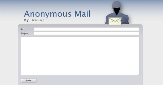 Enviar emails anonimos