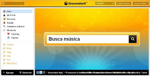 Escuchar musica gratis con Grooveshark