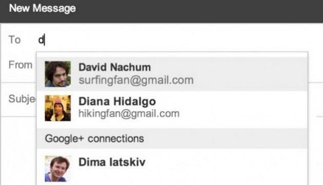 Gmail te permite enviar correos a perfiles de Google Plus