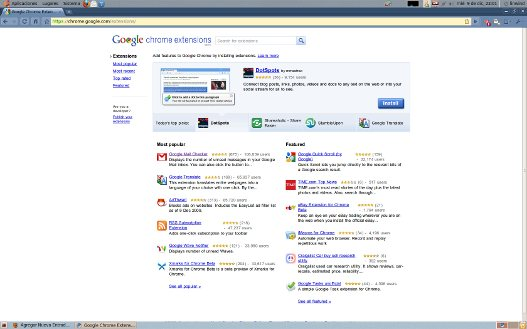 Ya disponible Google Chrome Extensions