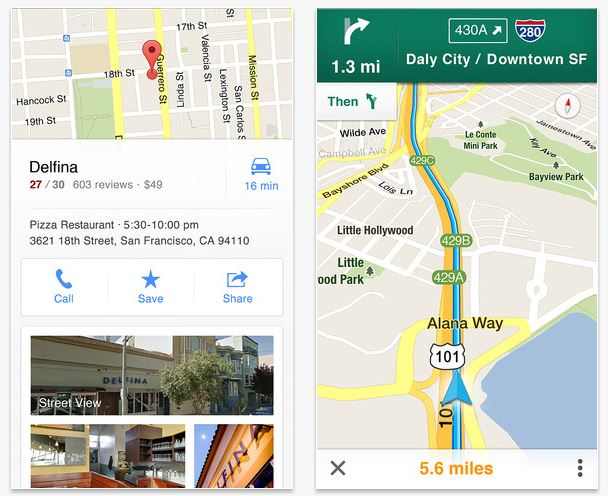 Google Maps para iOS 6
