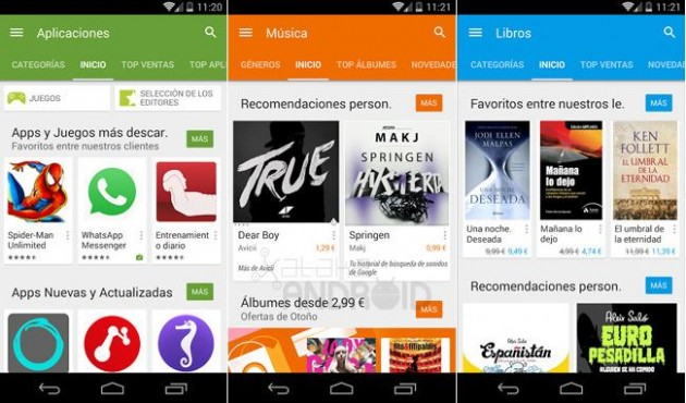 Google Play Android L