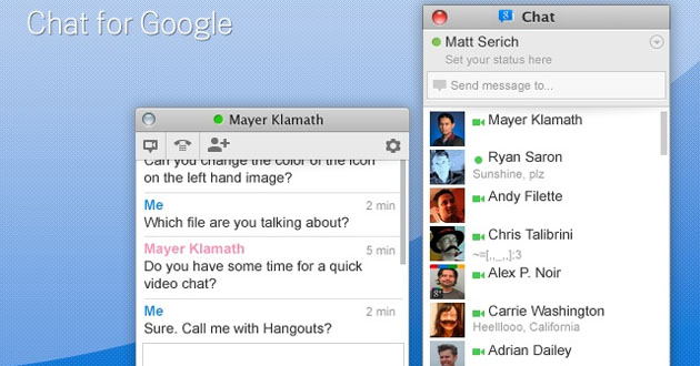 Google Talk para Chrome