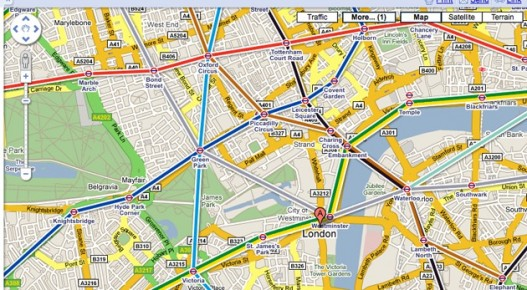 Google Transit disponible en Madrid