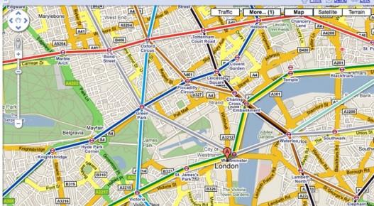 Google Transit disponible en Madrid