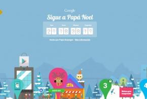 Google sigue a Papá Noel