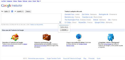 Google translate VOZ