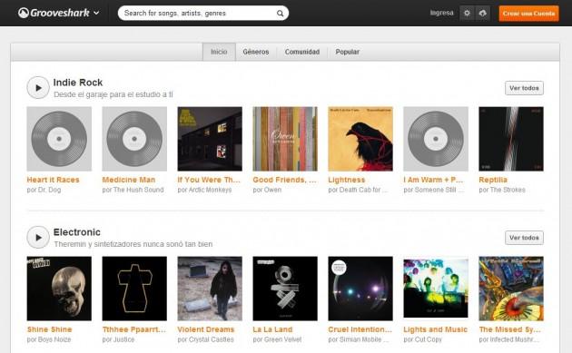 Hazte premium en Grooveshark por 5 dólares al mes