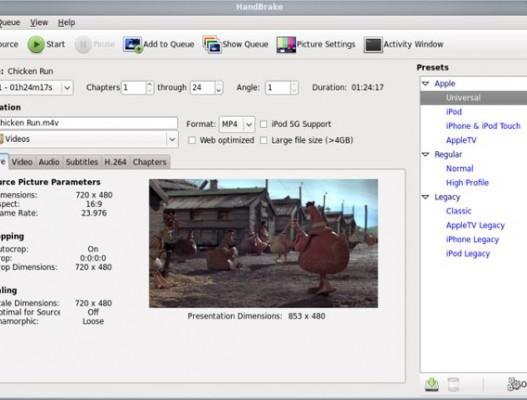 HandBrake, rippear DVDs a MP4, MKV, AVI u OGM