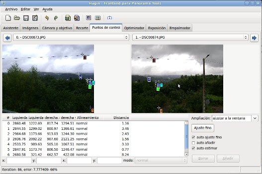 Crear fotos panorámicas a partir de varias fotos.