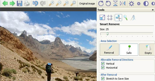 Interface Photo Scissors Pilot