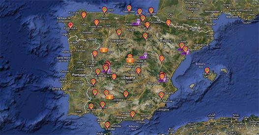 Medidores de radiactividad en España