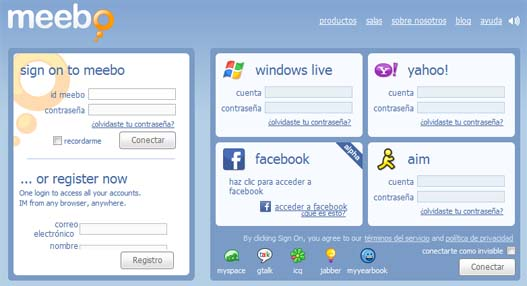 Meebo MSN Messenger