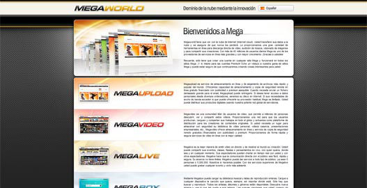 MegaWorld de Megavideo