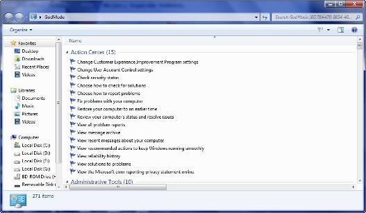 Modo Dios Windows 7