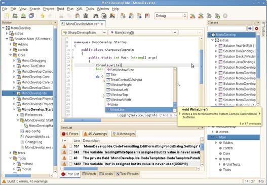 MonoDevelop, desarrolla aplicaciones C# y .NET