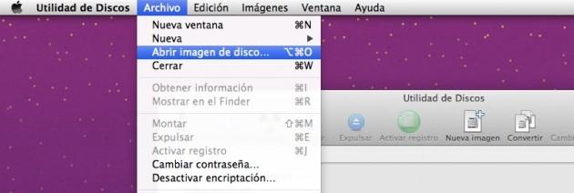 Montar imagen en Mac OS X