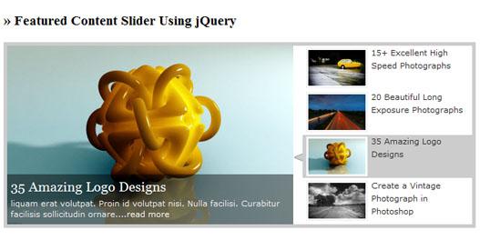 Mostrar contenido con un Slider jQuery